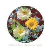 Liz Parkinson - Delphinium belladonna, Chrysanthemum x morifolium