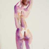 Mel Delija - Nude Stretching