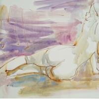 Mel Delija - Reclining Nude Back