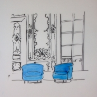 Jennifer Wardle - Two Blue Chairs