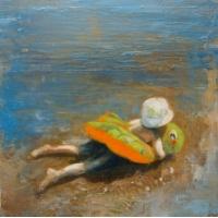 Elzbieta Krawecka - Orange Turtle Floatie