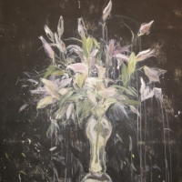 Martha Johnson - Garden at Night Series, Rubrum Lillies