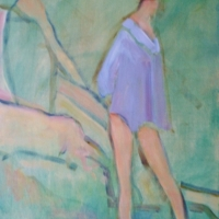 Susan McLean Woodburn - Two Bathers/ Georgian Bay