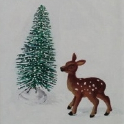 Emily Bickell - Brush Tree and Deer