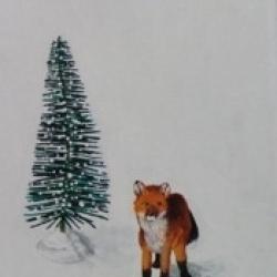 Emily Bickell - Brush Tree and Fox