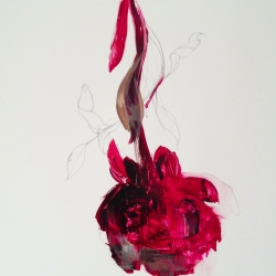 Madeleine Lamont - Velvet Paper Red Peonies