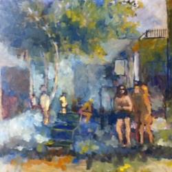 Masood Omer - Untitled (Park Scene 1)