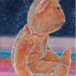 Marcel Kerkhoff - Birthday Bear at Night