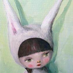 Kate Domina - Untitled (bunny girl in green)