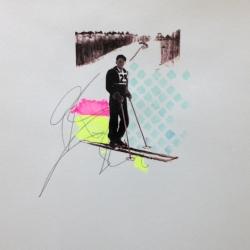 Sarah Martin - Untitled (Skier II)
