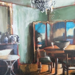 Hanna Ruminski - French Interior with an Empire Table