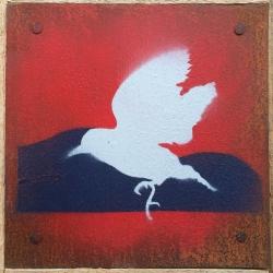 Ian Busher  - Grey Bird in Flight