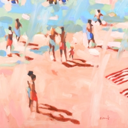 Elizabeth Lennie - Beach Life 4: A Windy Day