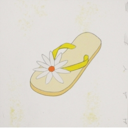 Christopher Hayes - Yellow Floral Flip Flop