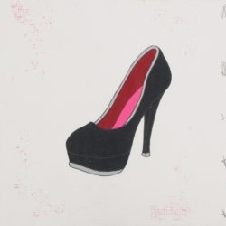 Christopher Hayes - Black Heel with Pink