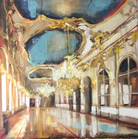 Large Gallery with Ceiling Fresco  by Hanna Ruminski