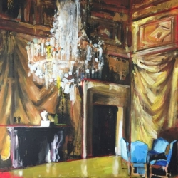 Hanna Ruminski - Meeting Hall with Faux Drapery I