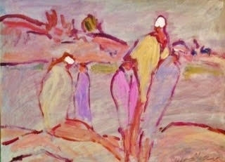 Grouping of Bathers-Pointe au Baril by Susan McLean Woodburn