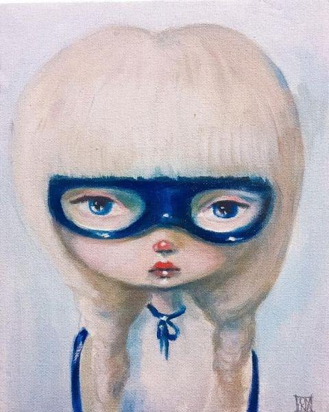 Vigilante in Blue  by Kate Domina