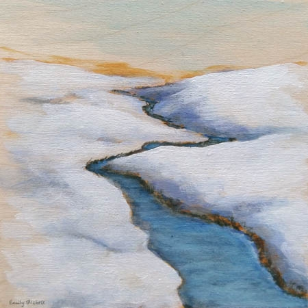 Winter Foothills 1  by Emily Bickell