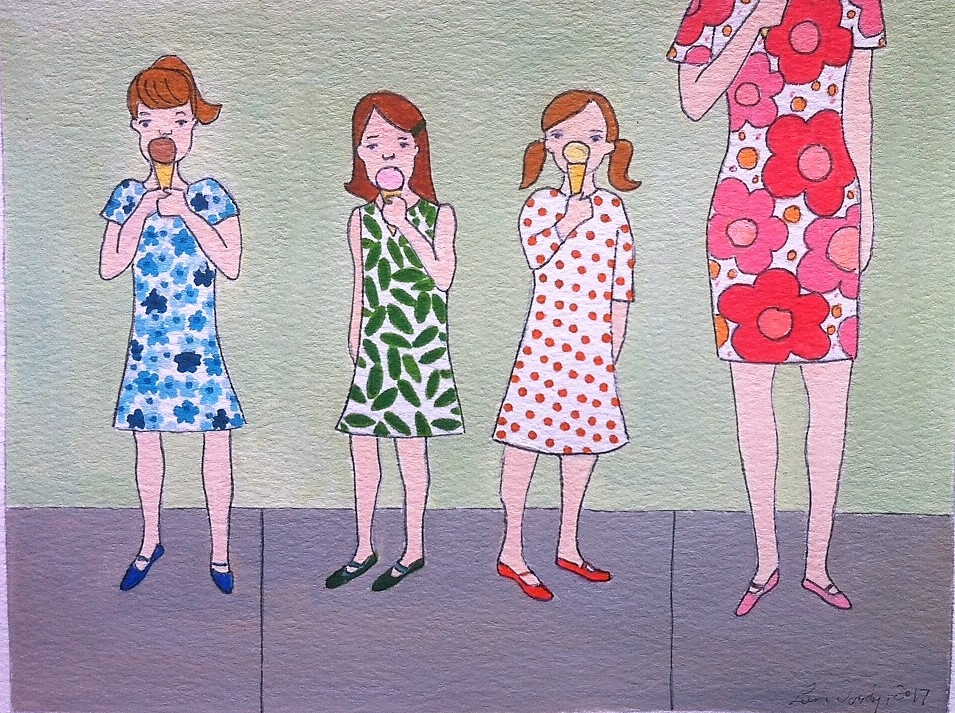 Going for Ice Cream VI by Lori Doody