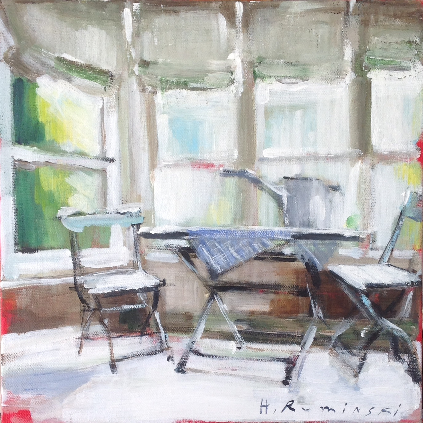Interior with Watering Can  by Hanna Ruminski