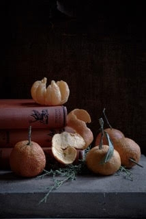 Oranges and Books by Kristin  Sjaarda
