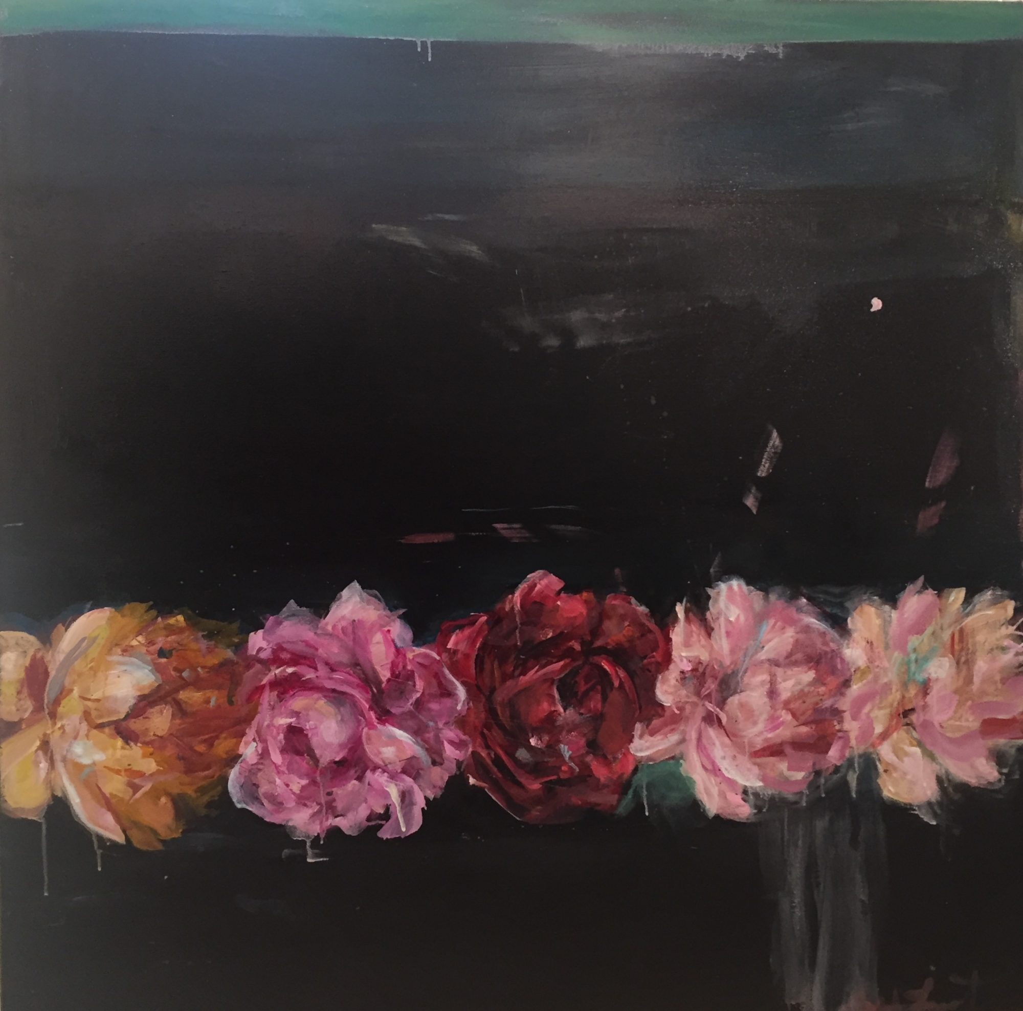 Untitled Peonies  by Madeleine Lamont