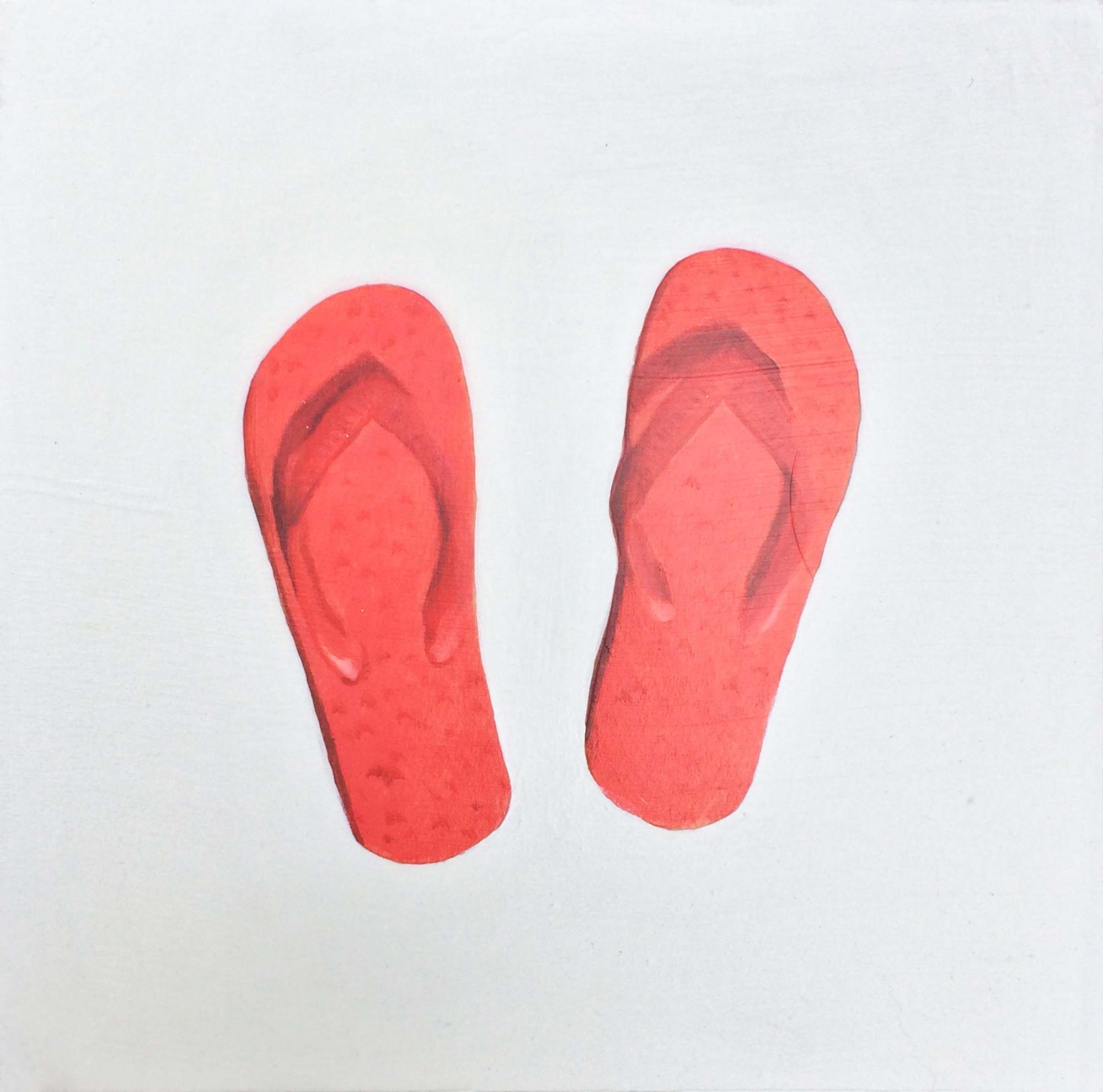 Red Flip Flops  by EM Vincent