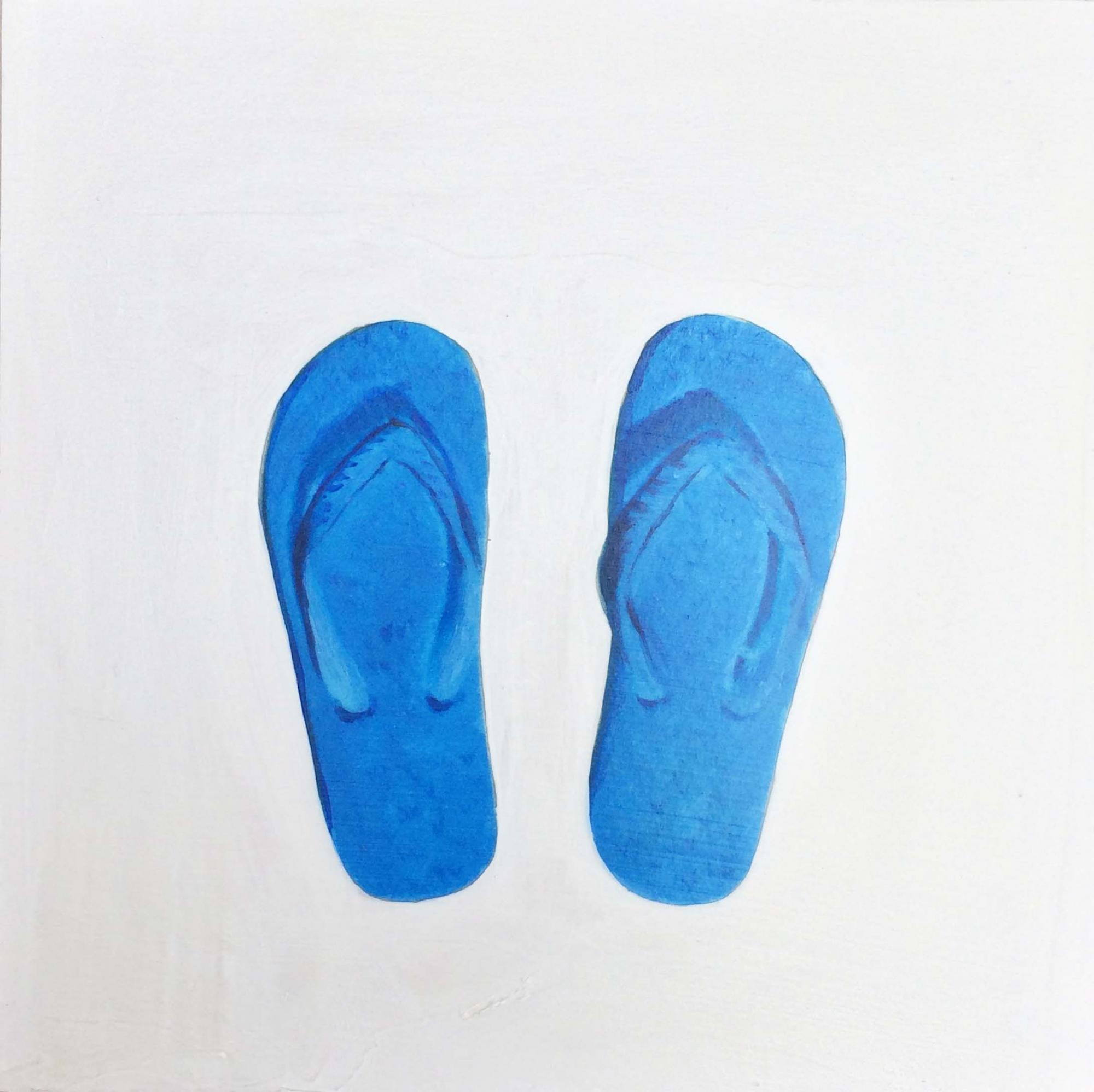 Blue Flip Flops by EM V