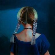 Purple Braids by Caroline Ji