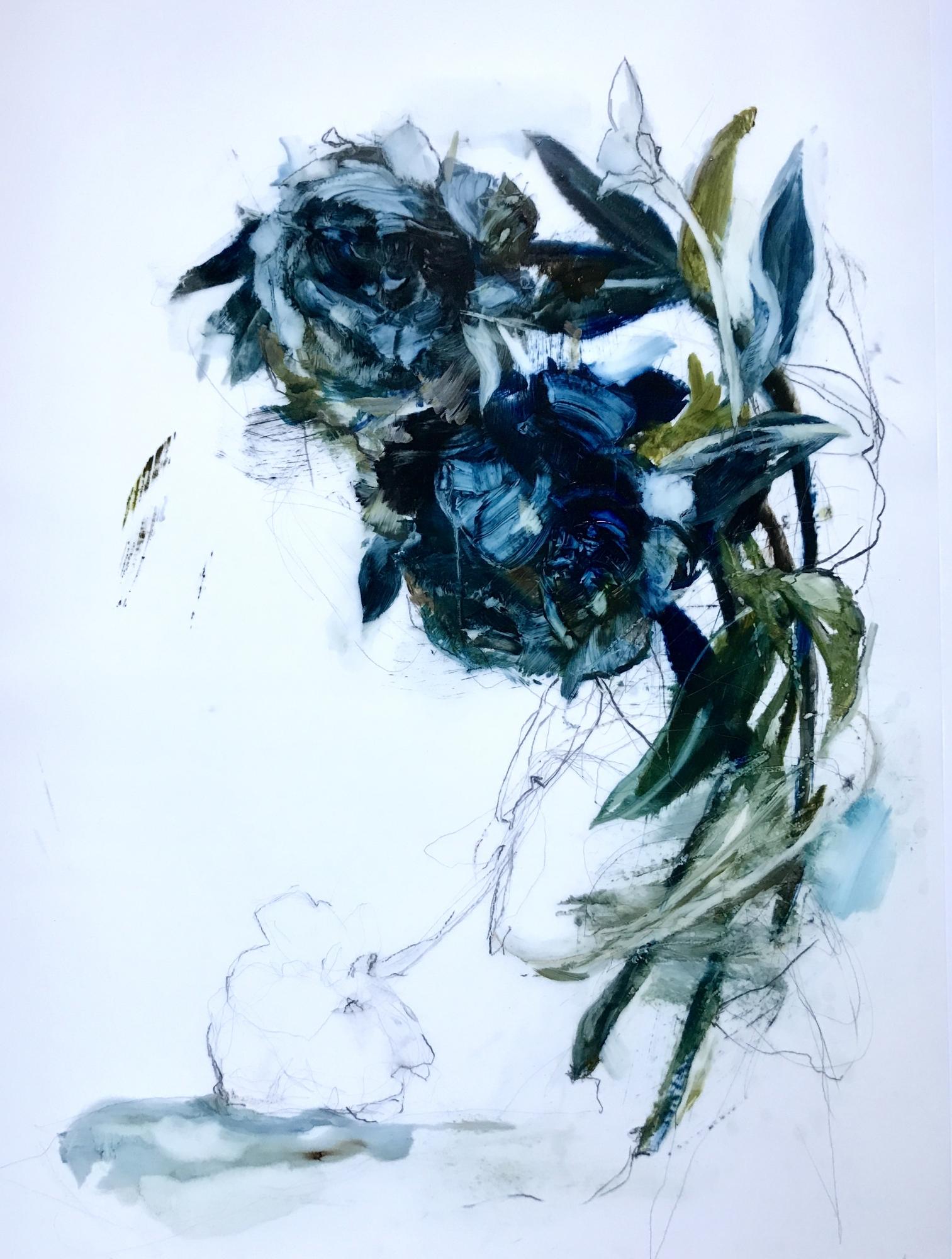 Blue Peony  by Madeleine Lamont