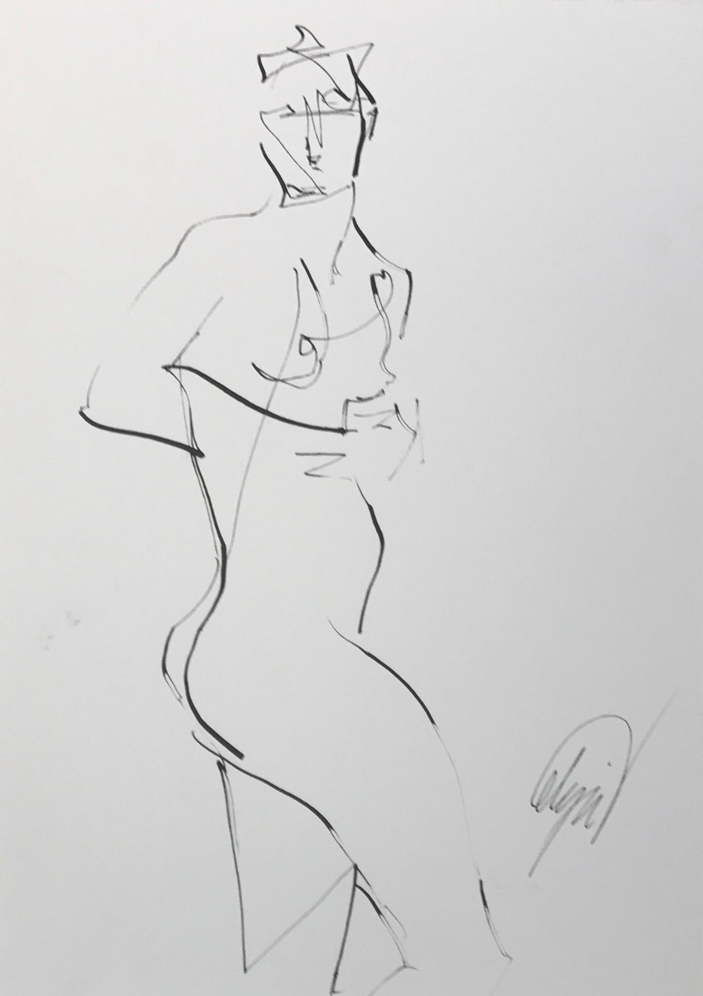 standing nude 1 by Mel Delija