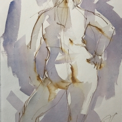 Mel Delija - Nude with Hand on Hip