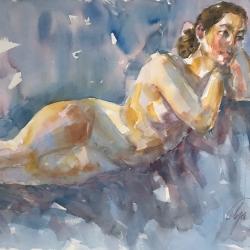 Mel Delija - Reclining Nude
