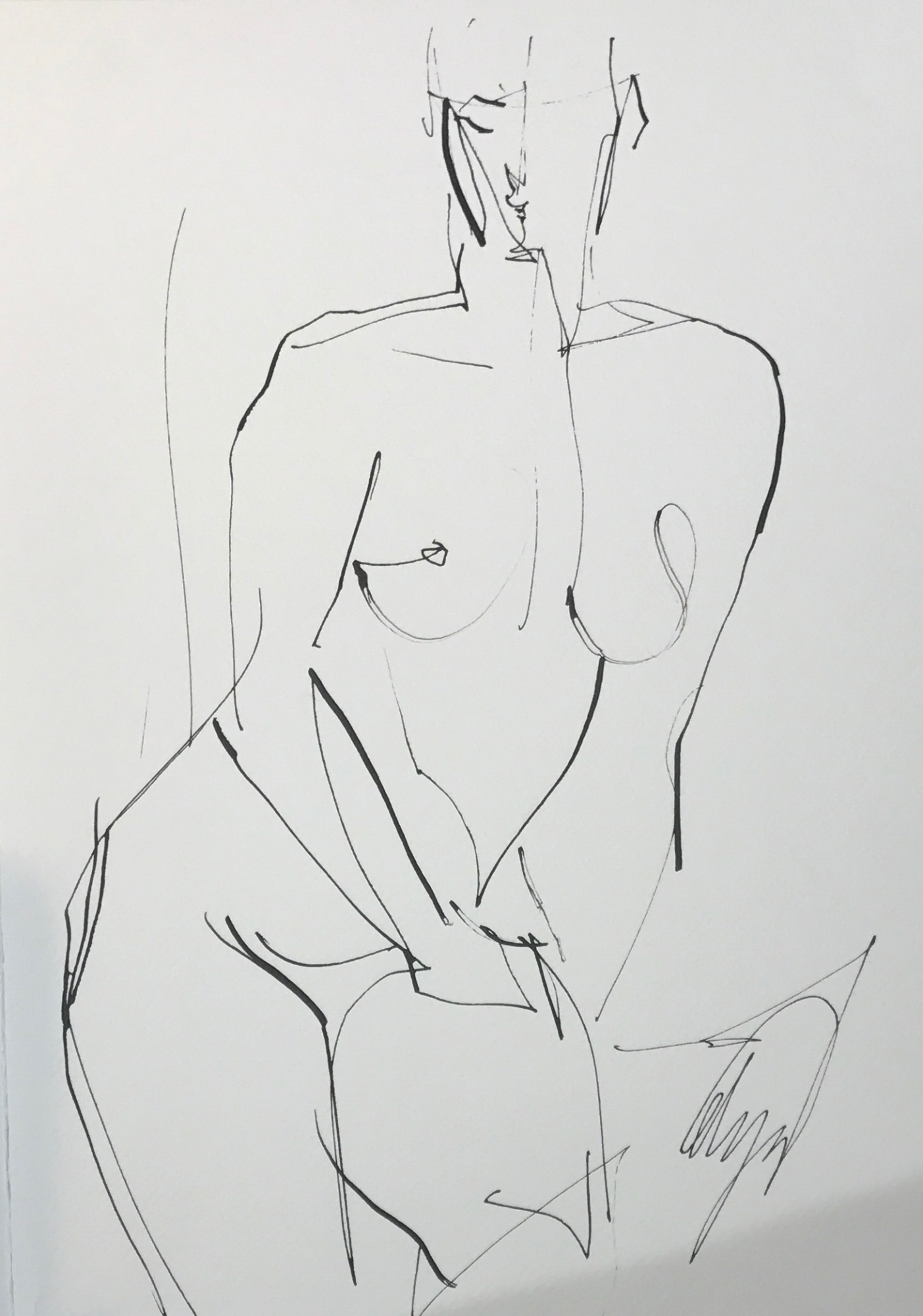 Seated Nude X by Mel Delija