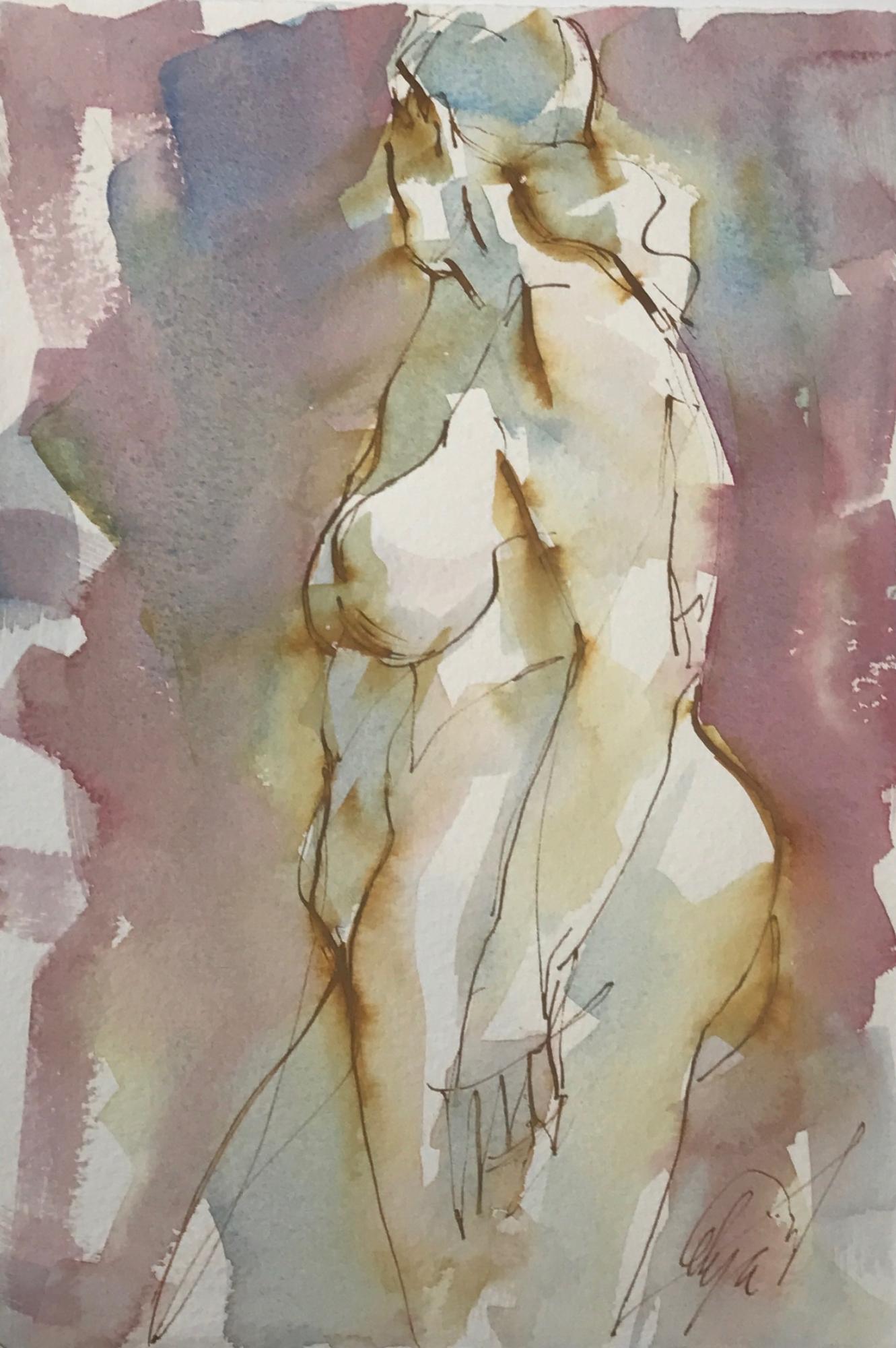 Standing Nude by Mel Delija