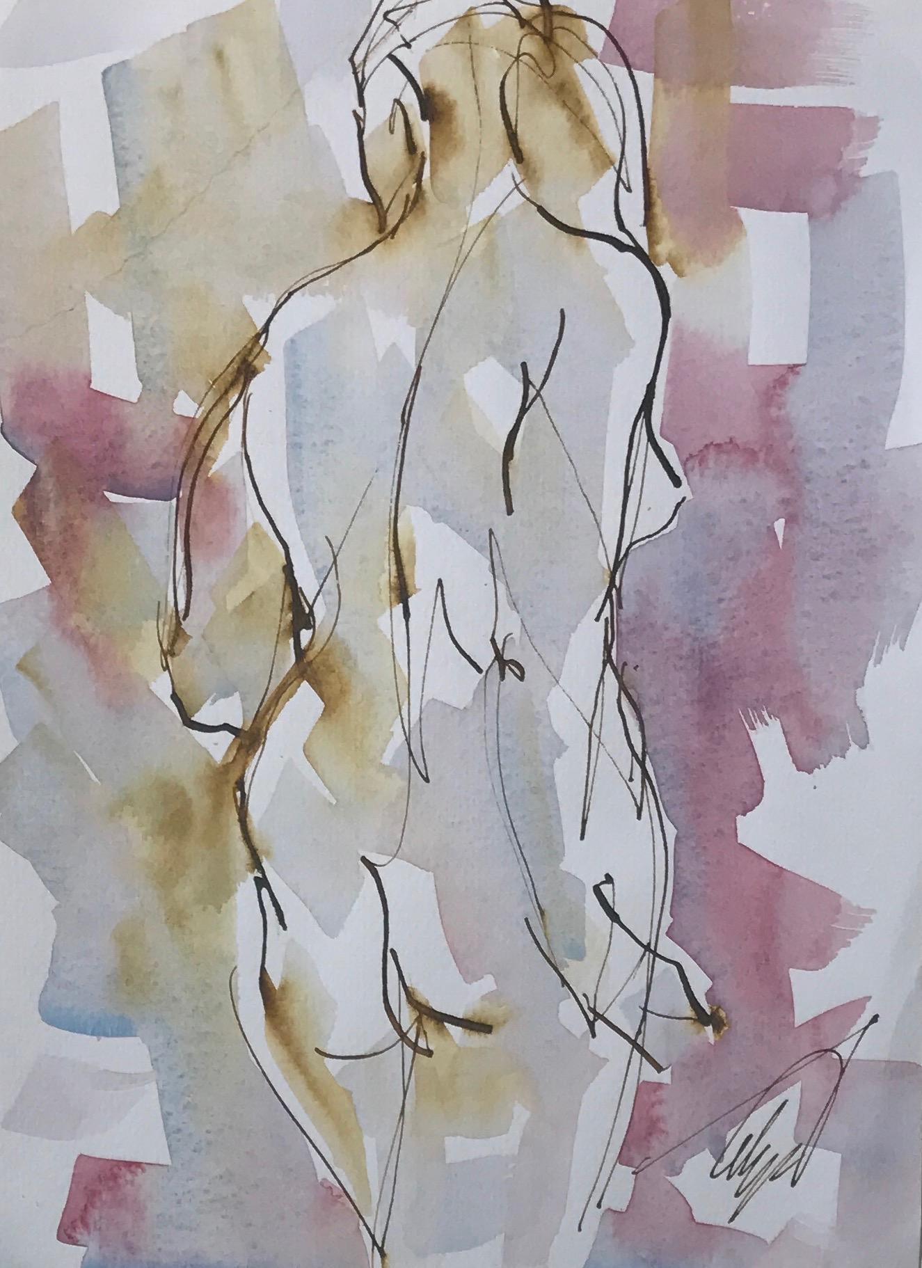 Standing Nude 2 by Mel Delija
