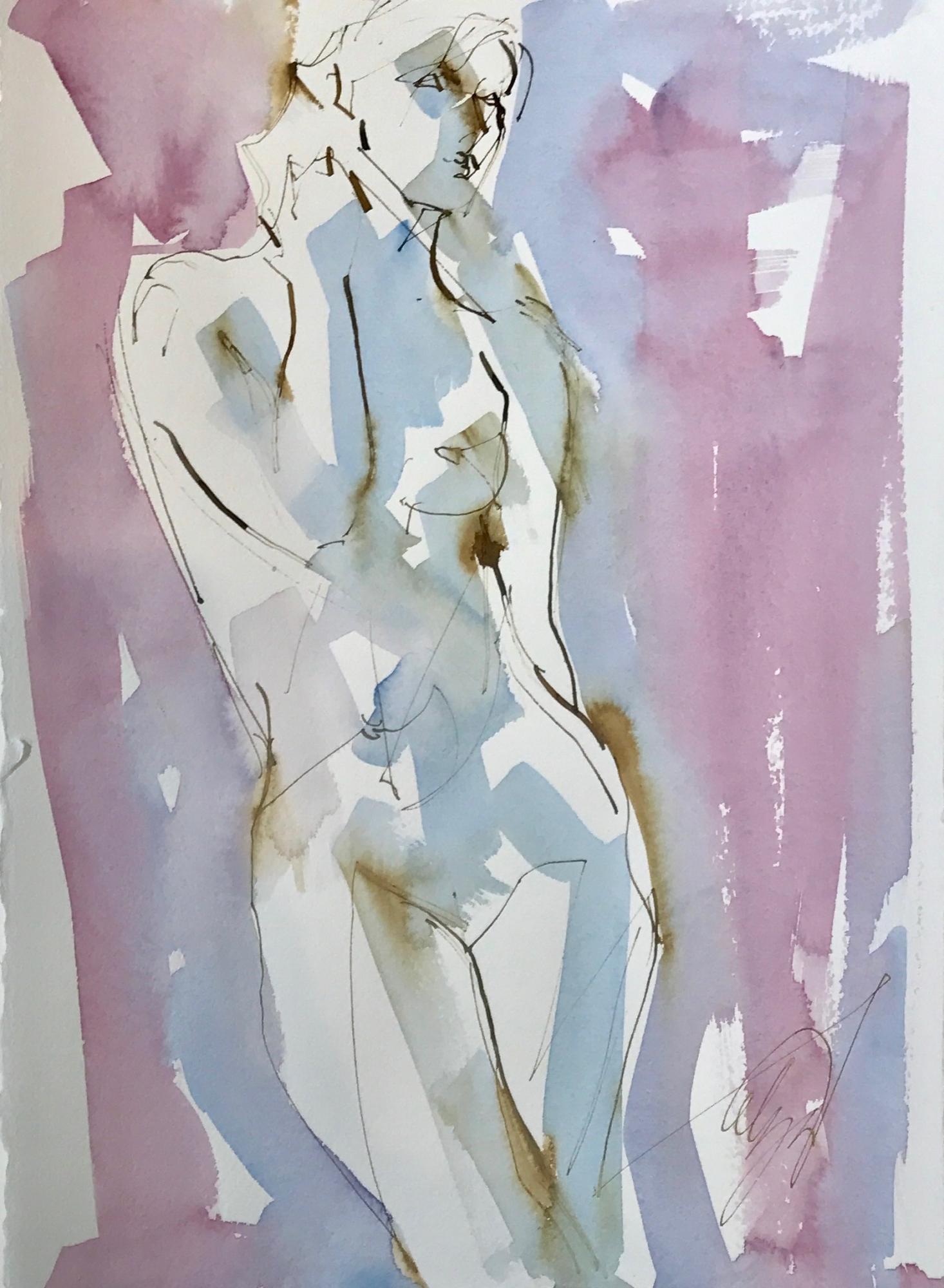 Nude Standing XI by Mel Delija