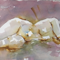 Mel Delija - Nude Reclining/Head on Arm