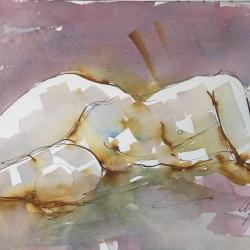 Mel Delija - Nude Reclining/Head on Arm