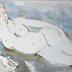 Mel Delija - Nude Semi Reclined