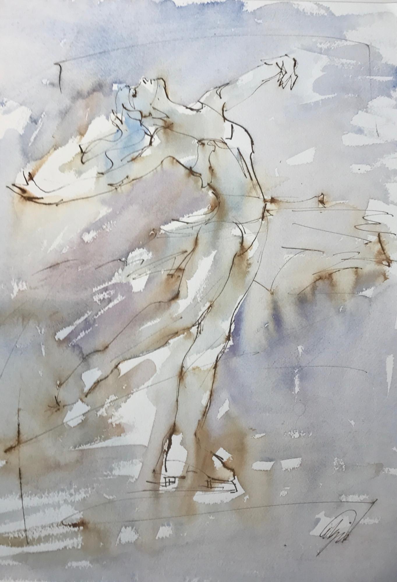 Layback Spin I by Mel Delija