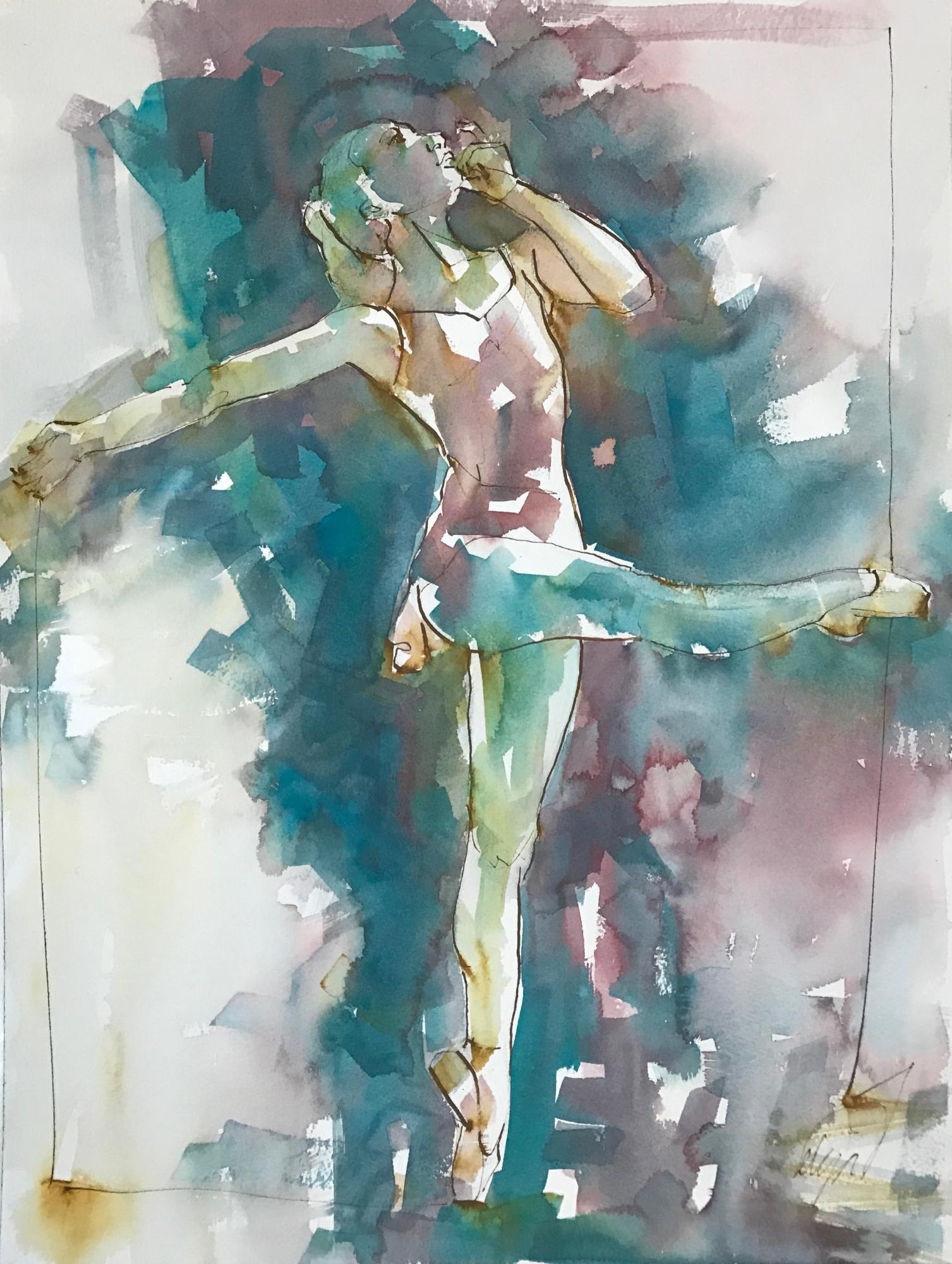 Dancer on Point V by Mel Delija
