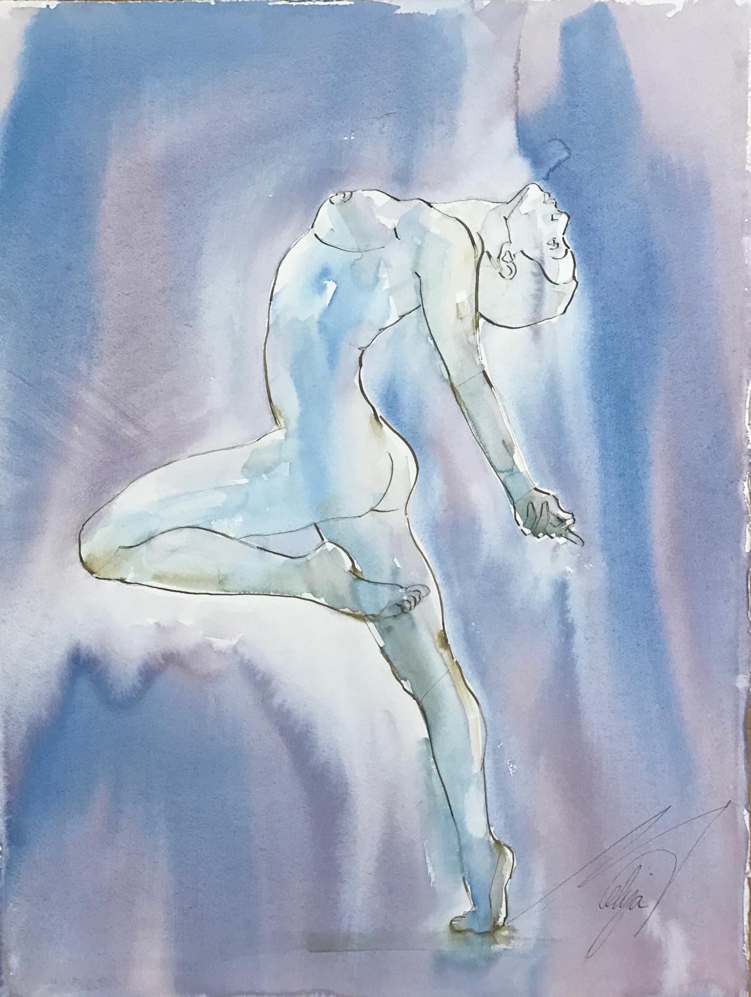 Backbend Nude by Mel Delija