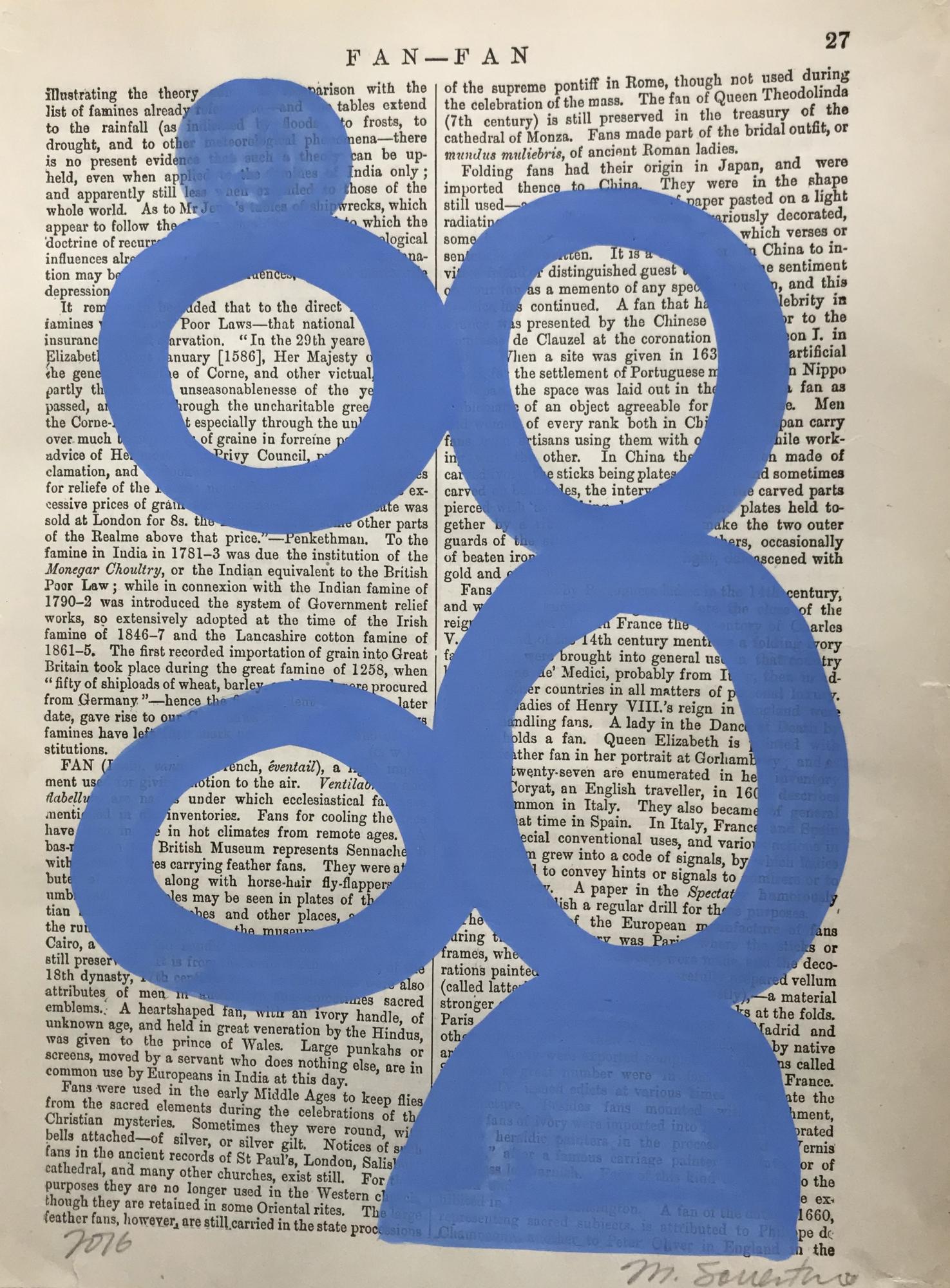 Fan Fan blue 27 by Michela Sorrentino