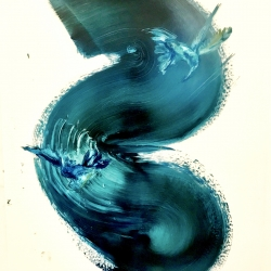 Madeleine Lamont - Humming bird-Blue Black Swirl