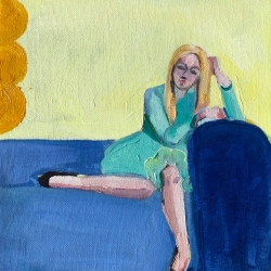 Frances  Hahn - Blue Couch