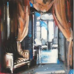 Hanna Ruminski - Parisian Apartment Cyan Blue