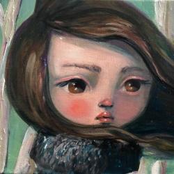Kate Domina - Brunette Amongst Birches